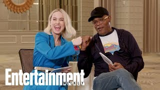 Brie Larson And Samuel L. Jackson Read Each Other's Iconic Movie Lines | Entertainment Weekly