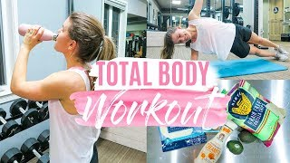 WORKOUT WITH ME! | Healthy Grocery Haul!