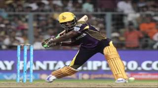 ipl 2016 match 5 fabolous Batting.Kolkata Knight Riders captain Gautam Gambhir Andre Russell