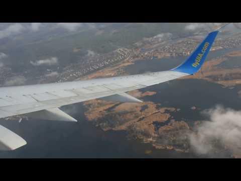 Boeing 737-36Q UR-GBD посадка в Борисполе 17.III.2017 / landing in Boryspol KBP Ukraine