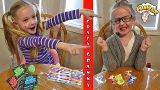 Trinity vs Granny - Sour vs Sweet Candy Taste Test Challenge