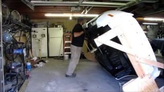 Toyota Supra homemade restoration rotisserie