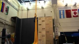 Estefani Evans - silks training