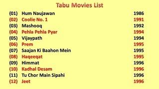 Tabu Movies List