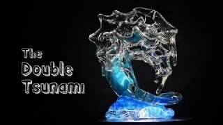 David Wight - Making the Double Medium Tsunami Glass Wave Sculpture
