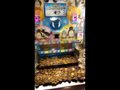 1#推錢機中獎320個幣,pinku推幣機 pingu