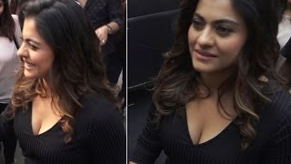 BUSTY Kajol shows off MAJOR CLEAVAGE | Uncensored Video
