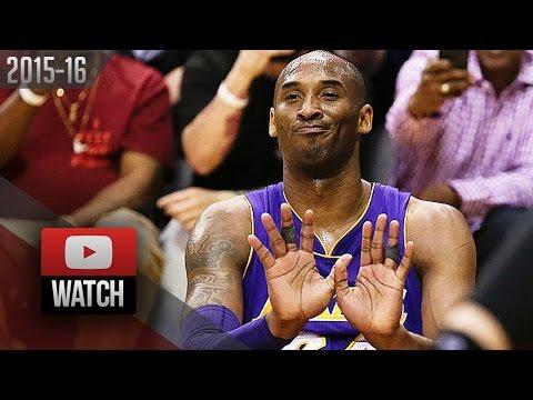 Kobe Bryant Full Highlights at Rockets (2016.04.10) - 35 Pts, VINTAGE! (Lakers Feed)
