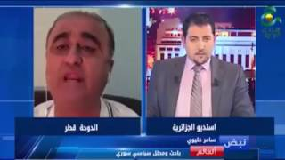 عراك كلامي بين معارض سوري و مذيع التلفزيون الجزائري