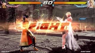 Tekken 7 : Fated Retribution ~ Ling Xiaoyu VS Nina Williams (Location Test)