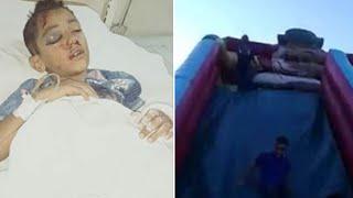 الطفل حسام يطيرمن الزحليقه الهوائية الأكثرانتشارا في مصر