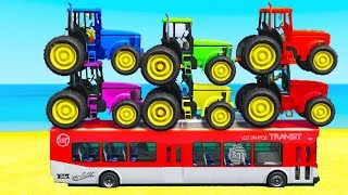 Colors For Kids With Tractors & Cars 3D Superheroes for Babies Nursery Rhymes