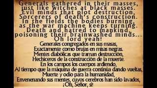 War Pigs - Black Sabbath  {English - Español  Lyrics}