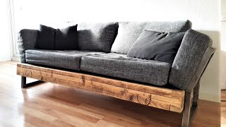 DIY Industrial Couch