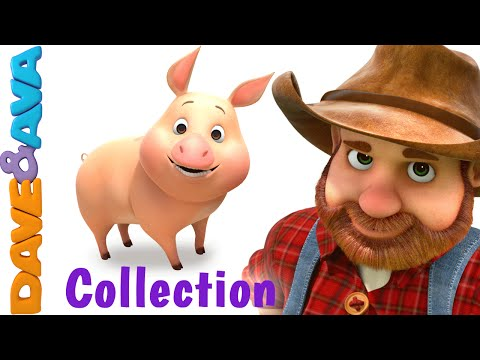 Old MacDonald Had a Farm Animal Sounds Song Nursery Rhymes & Baby Songs Collection Dave and Ava