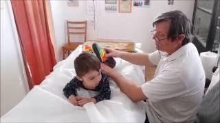 Little boy with a massage | LittleWoodpecker