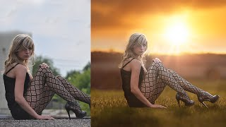 Photoshop Tutorial Photo Manipulation Change Background & Blending JO