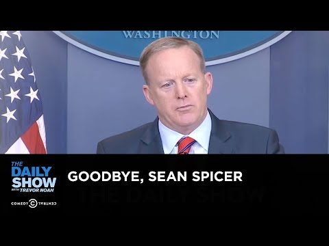 Exclusive Goodbye Sean Spicer The Daily Show