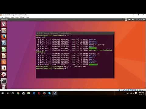 Ubuntu- Save terminal command output into a text file