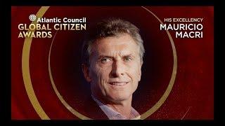 2018 Atlantic Council Global Citizen Award presented to President Mauricio Macri