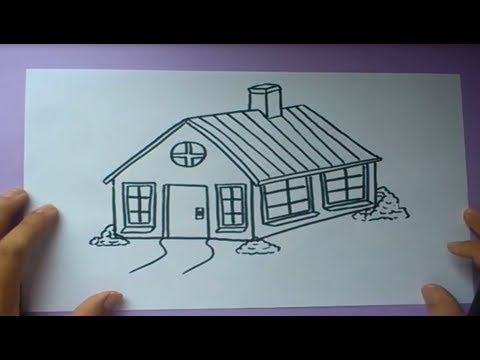 Como dibujar una casa paso a paso How to draw a house