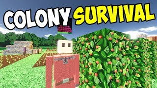 NEW UPDATE! Berry Farmer, Grinder, Grindstone and Flour! - Let's Play Colony Survival Gameplay