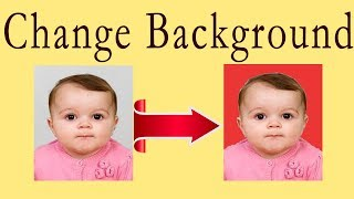 How to change background color of passport size photo in seconds