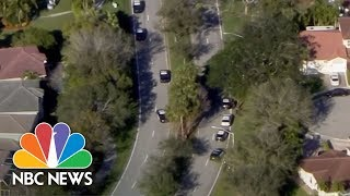 Florida School Shooting: Video Shows Students Hiding In Classroom While Gunshots Blast | NBC News