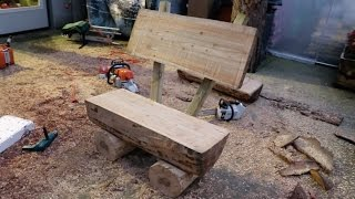 How to Build a beautiful log bench using a chainsaw