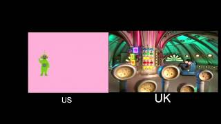 Side BY Side: Teletubbies - Again-Again! UK/US Comparison