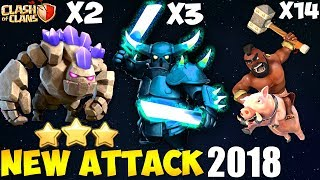 Pekka + Hogs: GOPEHO NEW TH9 STRONG WAR ATTACK STRATEGY 2018 | GoWipe + Goho | Clash of Clans