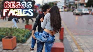 BESOS fáciles a Colombianas |Broma (Kissing Prank) ❤