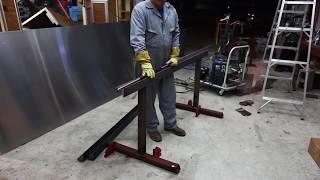 DIY Sheet Metal Brake - 72 inch wide, cheap method.
