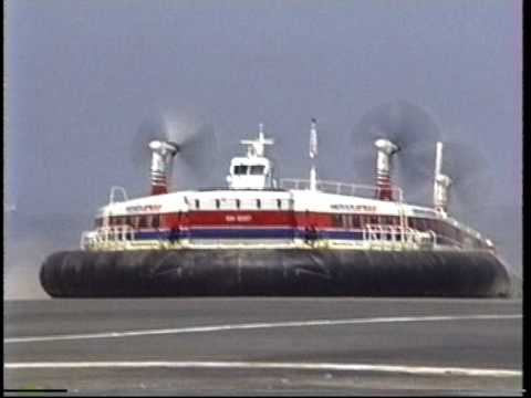 1991.08 Hoverspeed dover calais ferry service