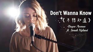 ▽ Don't Wanna Know《不想知道》- Boyce Avenue ft. Sarah Hyland cover 中文字幕▽