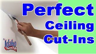 How To Paint A Straight Ceiling Line.  Painting A Straight Line.