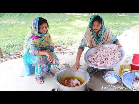Village Food - Cooking 7 Big Desi Chicken Curry Recipe / Desi Style Chicken Curry and Rice So Yummy