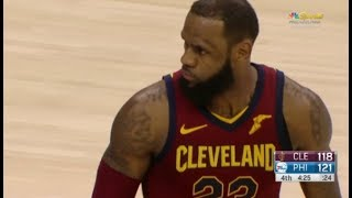 LeBron James goes 44/11/11 after down 30 and almost wins game - FULL HIGHLIGHTS vs 76ers!