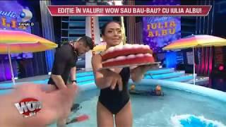 WOWBIZ (27.07.2017) - Iulia Albu, sarbatorita! Mantea i-a adus tortul in piscina! Imagini UNICE