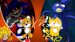 SONIC.EXE and TAILS DOLL vs SANIC and TAELS! Cartoon Fight Club Episode 41 REACTION!!!