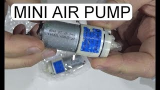 UNBOXING AND TEST MINI AIR PUMP DC12V