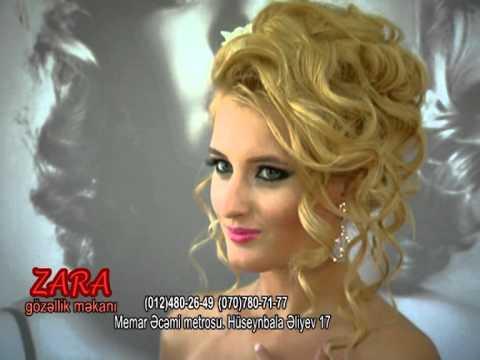 Ən gözəl gəlinlik saç düzümləri Zara gözəllik salonunda