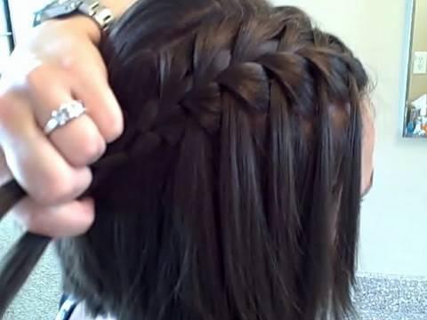 The Waterfall Braid DIY Cute Girls Hairstyles