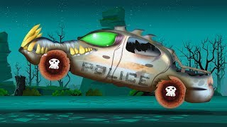 Halloween Police car wash | Spooky cartoon videos for children by kids channel