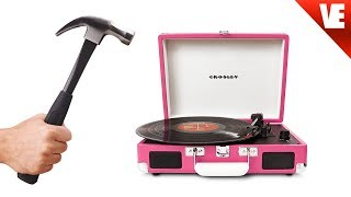 BREAKING a Record Player!