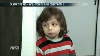 cette enfant est posseder par satan regarder et ecouter le petit  i m choking he said he wants to st