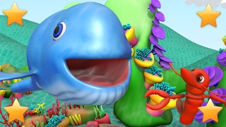 Big Blue Whale | 3D Kindergarten Baby Songs | Kids Nursery Rhymes Collection by Little Treehouse