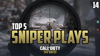 COD WWII TOP 5 SNIPER PLAYS OF THE WEEK #14 Call of Duty World War 2