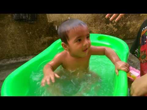 Indian baby bath in bath tub