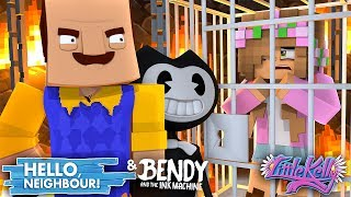 Minecraft Hello Neighbour - BENDY AND THE NEIGHBOUR HAVE LITTLE KELLY!?